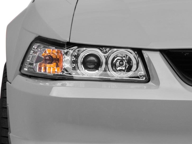 Axial LED Halo Projector Headlights; Chrome (99-04 All)