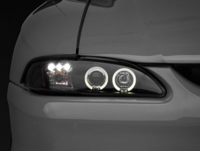 Axial Black Projector Headlights - Dual LED Halo (94-98 All)