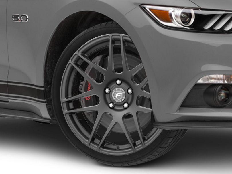 Forgestar F14 Monoblock Matte Black Wheel; 19x9.5 (15-20 GT, EcoBoost, V6)