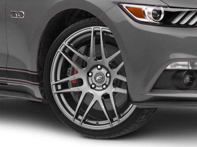 Forgestar F14 Monoblock Gunmetal Wheel; 20x9 (15-20 GT, EcoBoost, V6)