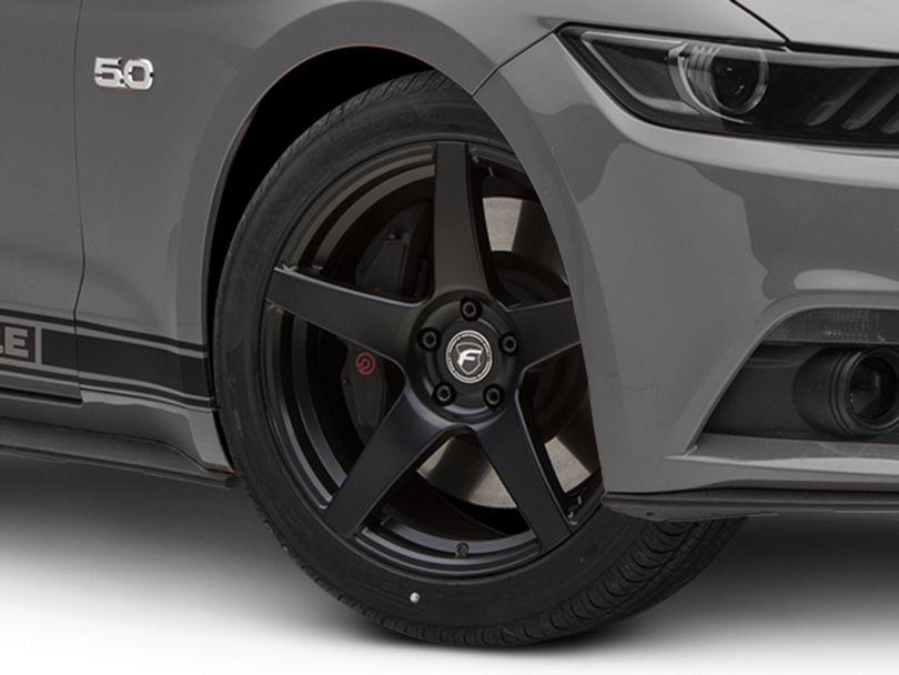 Forgestar CF5 Monoblock Matte Black Wheel; 19x9.5 (15-20 GT, EcoBoost, V6)