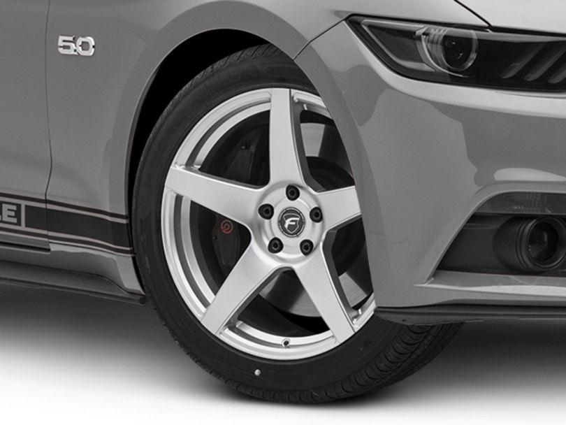 Forgestar CF5 Monoblock Silver Wheel - 19x9.5 (15-20 GT, EcoBoost, V6)