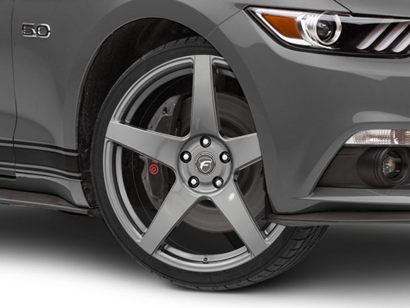 Forgestar CF5 Monoblock Gunmetal Wheel; 20x9.5 (15-20 GT, EcoBoost, V6)