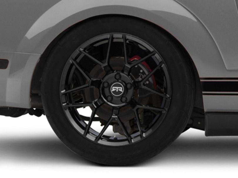 RTR Tech 7 Gloss Black Wheel; Rear Only; 19x10.5 (05-09 All)