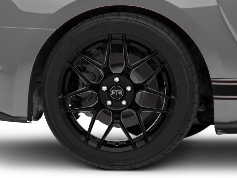 RTR Tech 7 Gloss Black Wheel; Rear Only; 19x10.5 (15-20 GT, EcoBoost, V6)