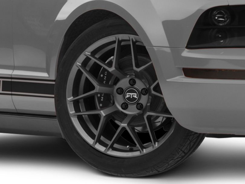 RTR Tech 7 Gunmetal Wheel; 19x9.5 (05-09 All)