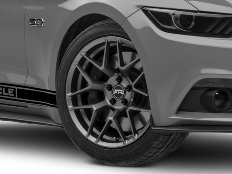 RTR Tech 7 Gunmetal Wheel; 19x9.5 (15-20 GT, EcoBoost, V6)