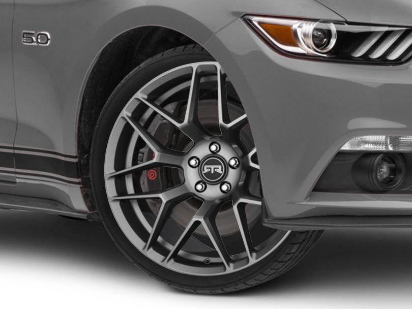 RTR Tech 7 Satin Charcoal Wheel; 20x9.5 (15-20 GT, EcoBoost, V6)