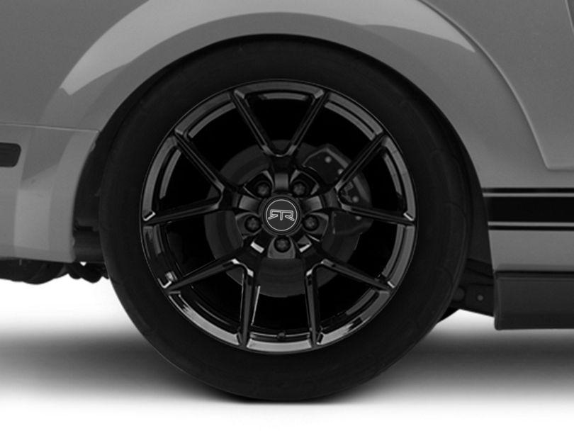 RTR Tech 5 Gloss Black Wheel; Rear Only; 19x10.5 (05-09 All)