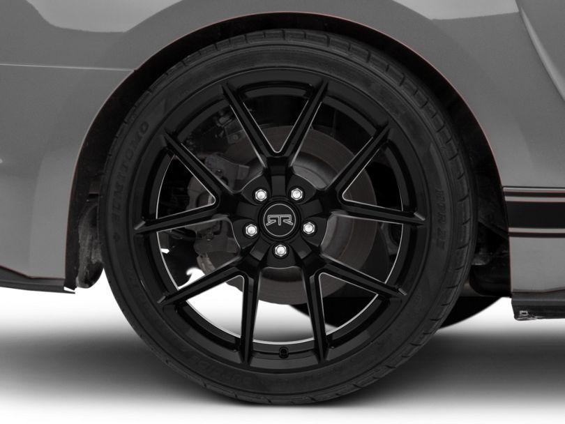 RTR Tech 5 Gloss Black Wheel; Rear Only; 20x10.5 (15-20 GT, EcoBoost, V6)