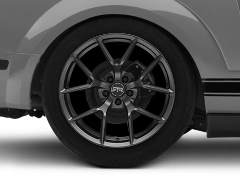 RTR Tech 5 Satin Charcoal Wheel; Rear Only; 19x10.5 (05-09 All)