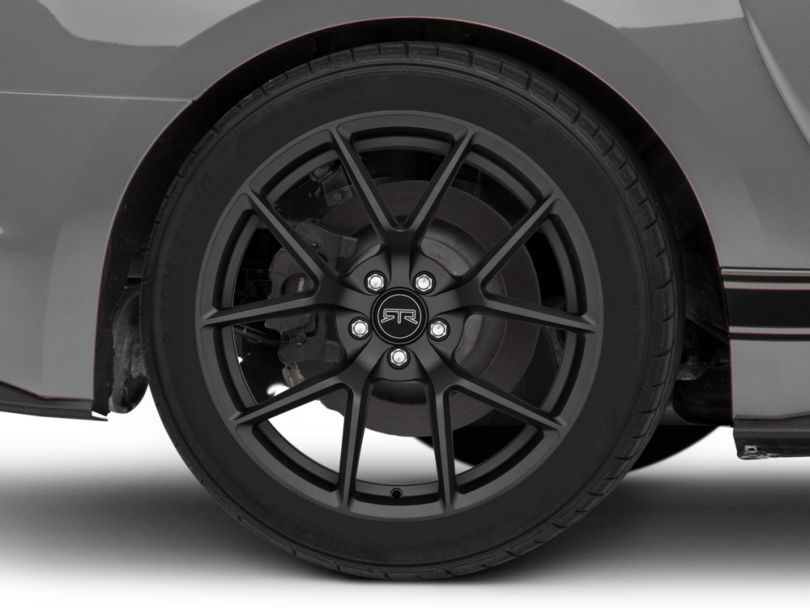 RTR Tech 5 Satin Charcoal Wheel; Rear Only; 19x10.5 (15-20 GT, EcoBoost, V6)