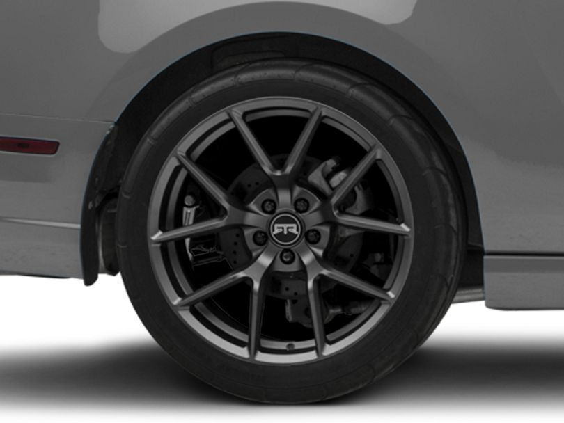 RTR Tech 5 Dark Gunmetal Wheel; Rear Only; 20x10.5 (10-14 All)
