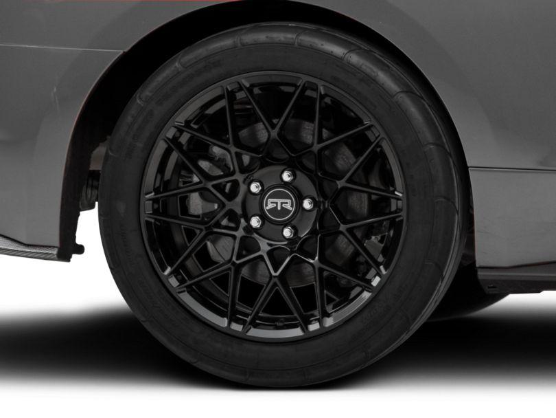 RTR Tech Mesh Gloss Black Wheel; Rear Only; 19x10.5 (15-20 GT, EcoBoost, V6)