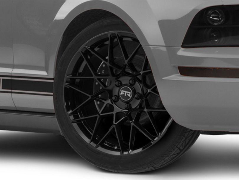 RTR Tech Mesh Gloss Black Wheel; 20x9.5 (05-09 GT, V6)