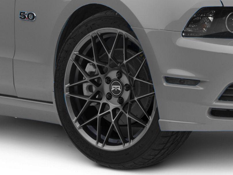 RTR Tech Mesh Satin Charcoal Wheel; 19x9.5 (10-14 Standard GT, V6)