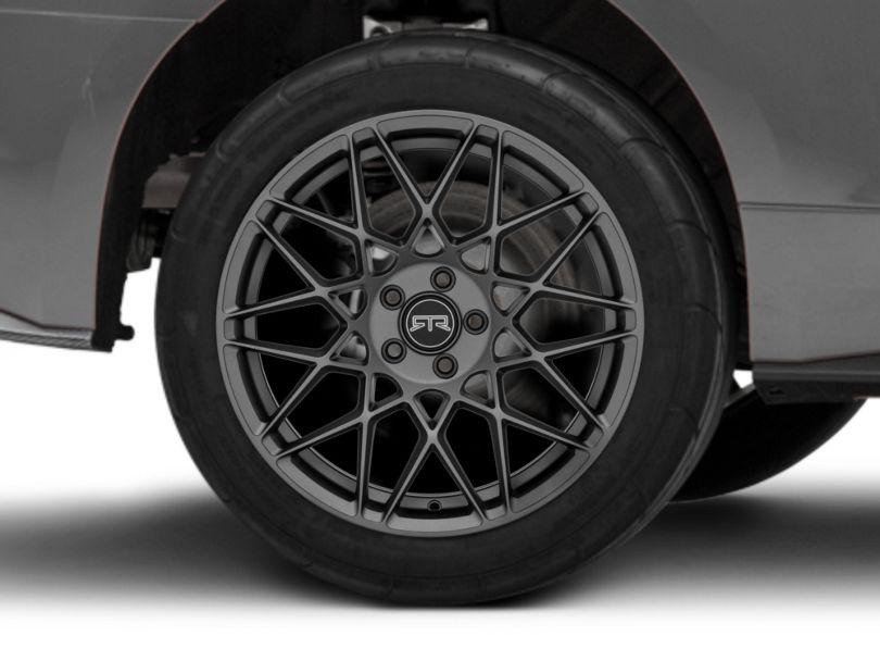RTR Tech Mesh Dark Gunmetal Wheel; Rear Only; 19x10.5 (15-20 GT, EcoBoost, V6)