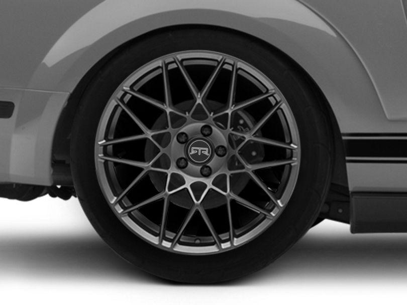 RTR Tech Mesh Satin Charcoal Wheel; Rear Only; 20x10.5 (05-09 All)