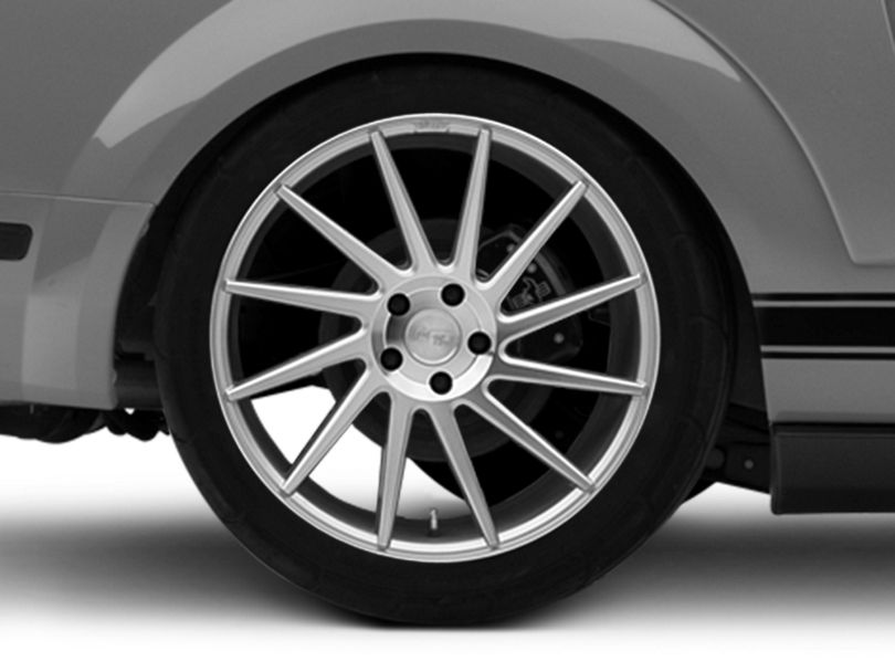 Niche Surge Silver Machined Directional Wheel; Rear Only; Passenger Side; 20x10.5 (05-09 All)