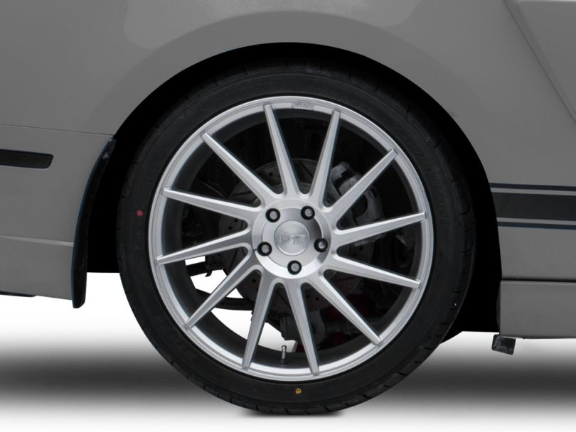 Niche Surge Silver Machined Directional Wheel; Rear Only; Driver Side; 20x10.5 (10-14 All)