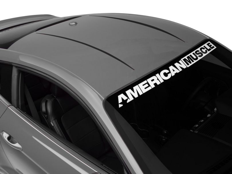 American Muscle Graphics Roof Accent Stripes - Matte Black (15-20 All)