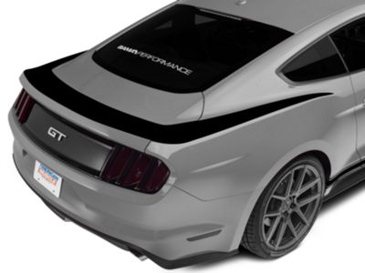 American Muscle Graphics Black Upper Rear Surround Decal (15-19 All)