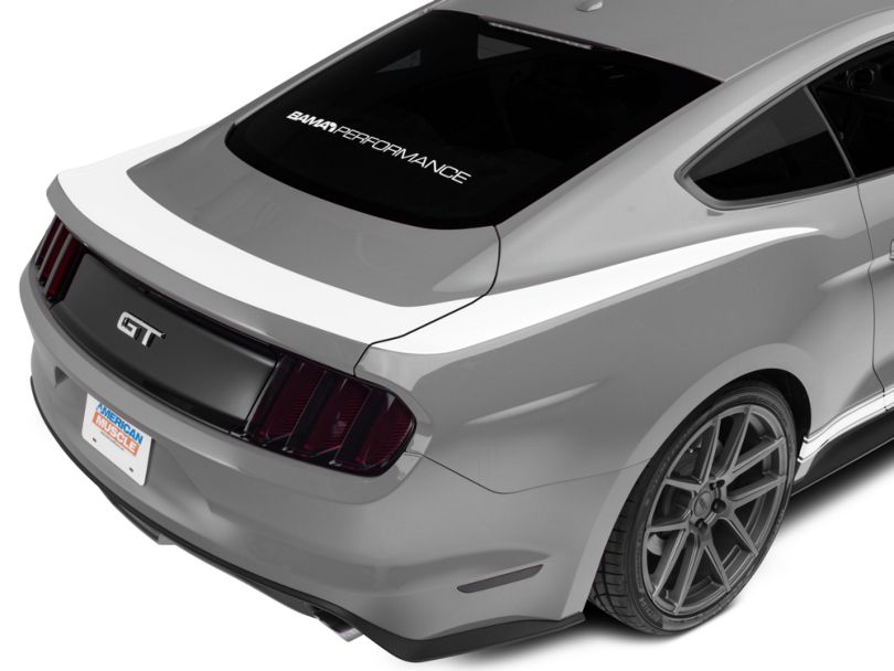 American Muscle Graphics White Upper Rear Surround Decal (15-20 All)