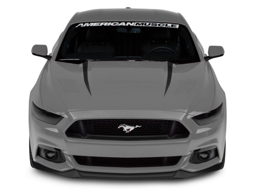 American Muscle Graphics Hood Accent Decal - Matte Black (15-17 GT, EcoBoost, V6)