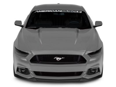 American Muscle Graphics Hood Accent Decal - White (15-17 GT
