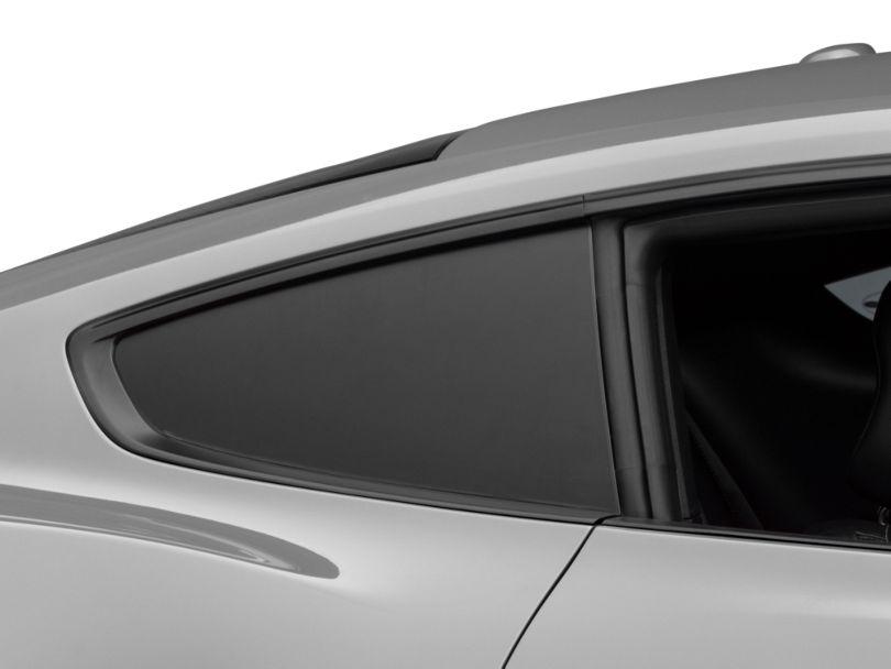 American Muscle Graphics Matte Black Quarter Window Blackout (15-20 Fastback)
