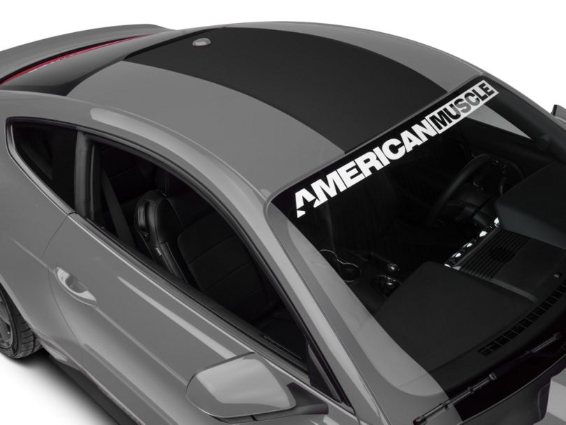 American Muscle Graphics Roof Panel Decal; Matte Black (15-20 All)