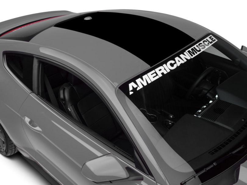 American Muscle Graphics Roof Panel Decal; Black (15-20 All)