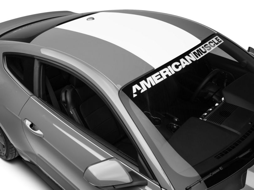 American Muscle Graphics Roof Panel Decal - White (15-20 All)