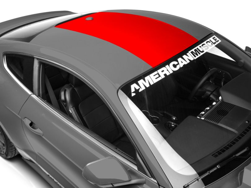 American Muscle Graphics Roof Panel Decal; Red (15-20 All)
