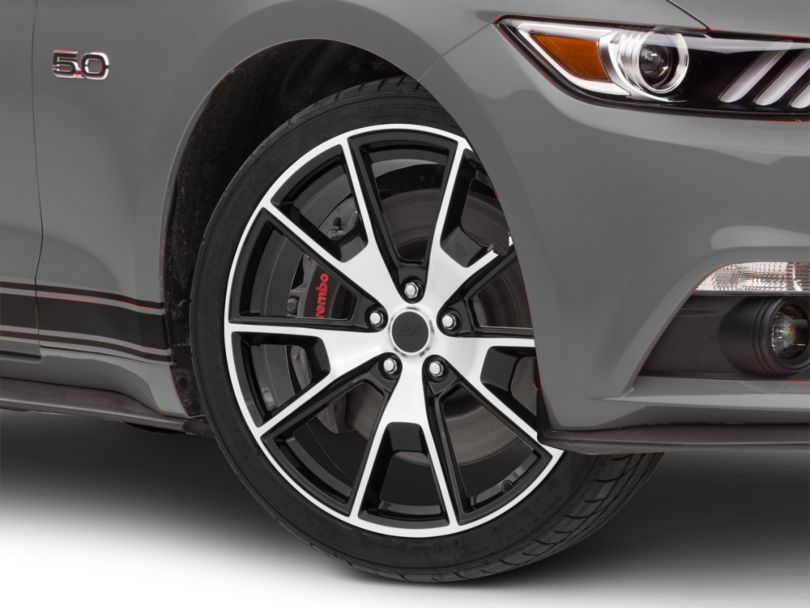 50 Years Style Gloss Black Machined Wheel - 20x8.5 (15-20 GT, EcoBoost, V6)