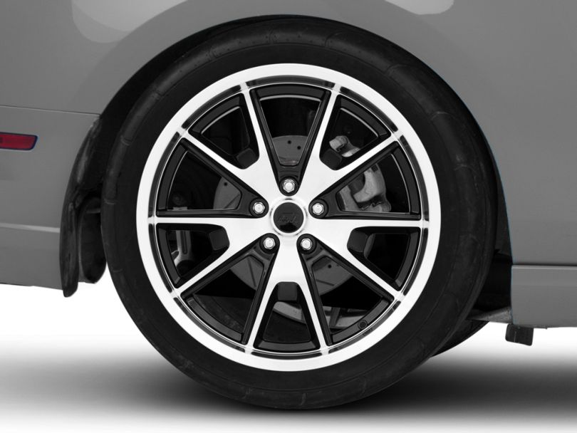 50 Years Style Gloss Black Machined Wheel; Rear Only; 20x10 (10-14 All)