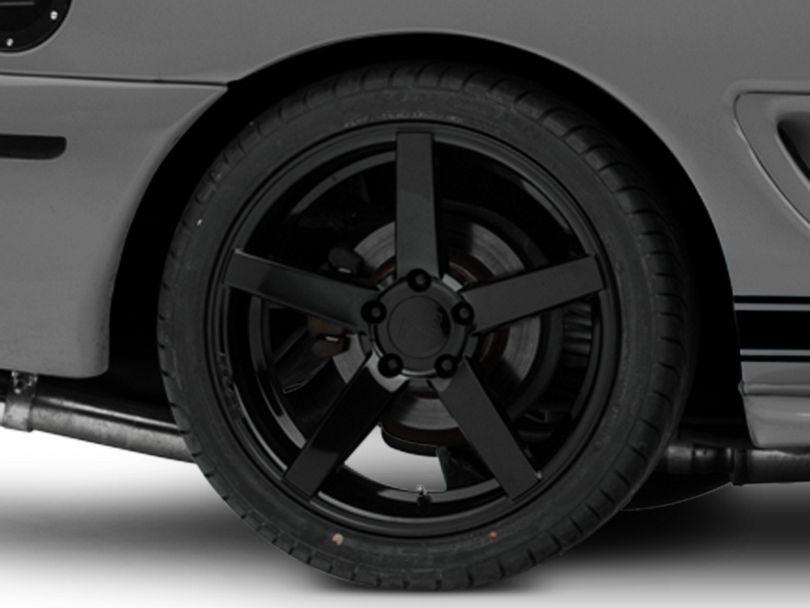 Rovos Durban Gloss Black Wheel; Rear Only; 18x10.5 (94-98 All)