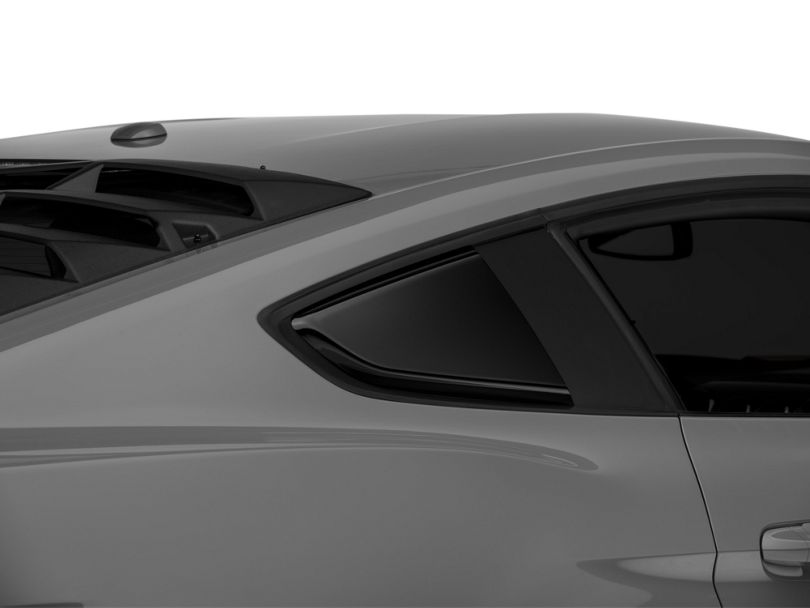 Roush Quarter Window Scoops - Painted Black (15-20 Fastback)