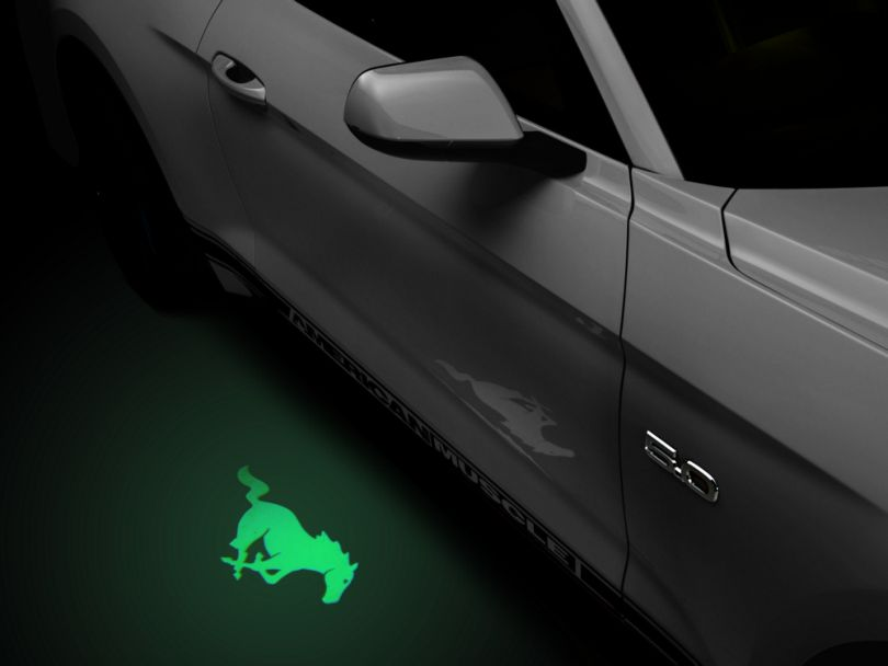 American Muscle Graphics Side View Mirror Puddle Lamp Lens Tint - Green (13-20 All)