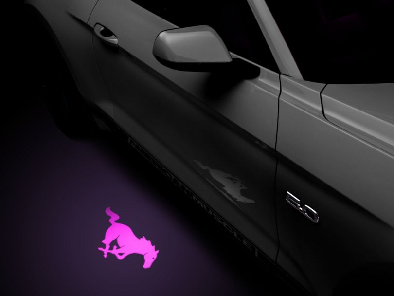 American Muscle Graphics Side View Mirror Puddle Lamp Lens Tint - Purple (13-20 All)