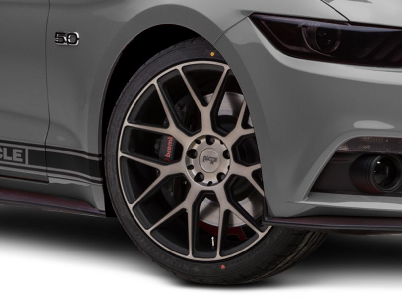 Niche Intake Black Machined Wheel; 20x9 (15-20 GT, EcoBoost, V6)