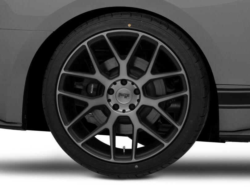 Niche Intake Black Machined Wheel; Rear Only; 20x10 (15-20 GT, EcoBoost, V6)