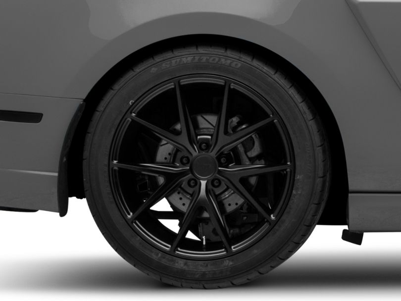 Niche Misano Matte Black Wheel; Rear Only; 19x9.5 (10-14 All)
