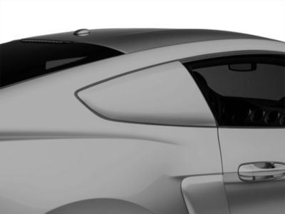 MMD by FOOSE Pre-Painted Quarter Window Louvers - Shadow Black (15-19 Fastback)