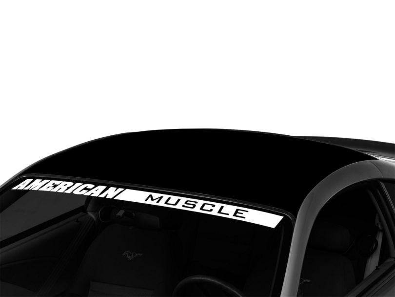 American Muscle Graphics Solid Roof Decal; Black (94-04 All)