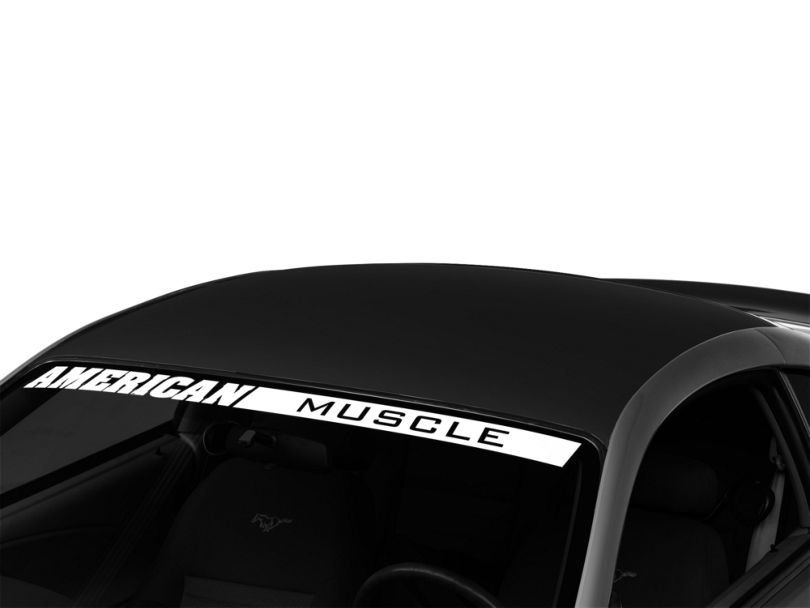 American Muscle Graphics Matte Black Solid Roof Decal (94-04 All)