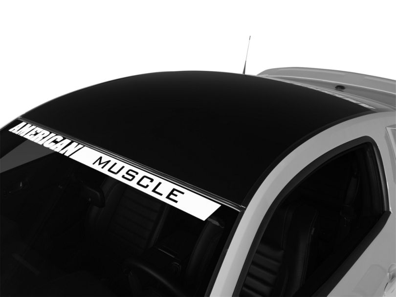 American Muscle Graphics Black Solid Roof Decal (05-14 All)