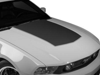 American Muscle Graphics Matte Black Single Hood Stripe (10-12 GT, V6)