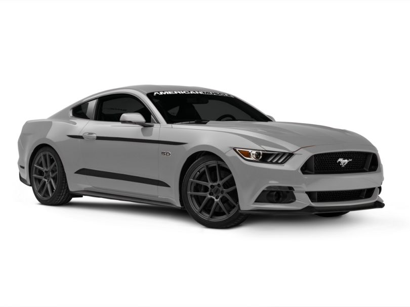 American Muscle Graphics Side Accent Decals; Matte Black (15-20 All)