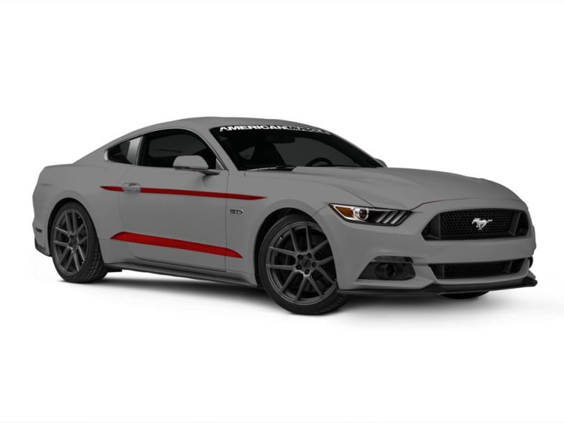 American Muscle Graphics Red Side Accent Decals (2015 All) (15-20 All)